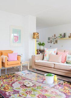 Sala linda, colorida, viva!