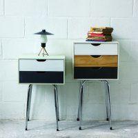 des chevets avec des meubles à tiroirs et des pieds de tabourets - Marie Claire Idées