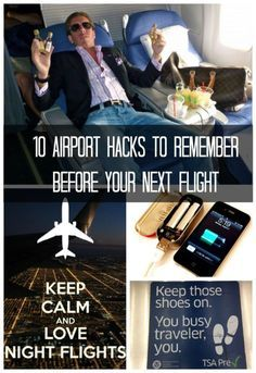 10 Airport Hacks to Remember Before Your Next Flight. (#5 is Genius!) Click to see more #spon #lifehacks