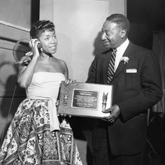 Sarah Vaughan receives honor - Chicago 1955.