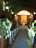 Holy Trinity Woolloongabba decorated for a wedding.