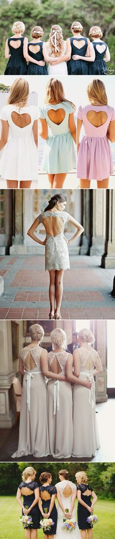 Bridesmaid Dress Trends: 28 Beautiful Details you will love! Detail 1: Keyhole Backs!