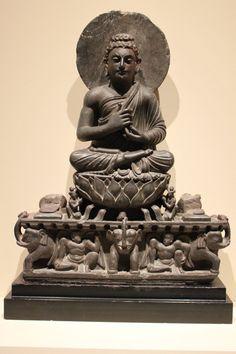 Teaching Buddha on elephant throne, Portland Art Museum, Oregon Buddha Art, Buddha Statues, Sitting Buddha, God Pictures, Male Figure, Ancient History, Art And Architecture, Asian Art, Art Museum