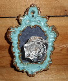 Beautiful Antique Style Glass Knob Wall Handle Hanging,Distressed Chic Frame Wall Hook,Glass Door Knob Decor