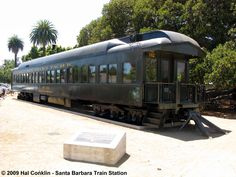 #142 Santa Barbara Pullman built class 70-C in 1914 for EP&SW as #675 with 81 seats, later numbered SP #1052 in 1924. Rebuilt to the Santa Barbara in 1929. The SP #142 is now owned by the City of Santa Barbara Redevelopment Agency, has been refurbished by Fillmore & Western Railway Company and is now on static display at the railroad depot downtown.