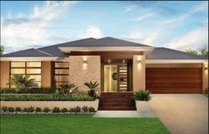 Single story modern home design simple contemporary house plans throughout single story house design ideas Contemporary House Plans, Modern House Plans, Modern House Design, Contemporary Design, Simple House Design, Kerala House Design, Bungalow House Design, Facade Design, Architecture Design