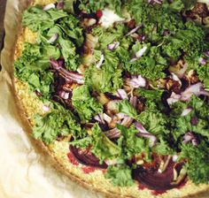 Our Earth Land: Beet and Kale Cauliflower Crust Pizza