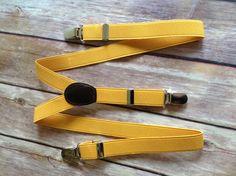 Yellow Adjustable Suspenders -  Baby thru Youth adjustable wedding ring bearer usher birthday party photo prop dress up baby boy infant child toddler kid