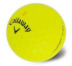 72 Near Mint Callaway Chrome Soft Yellow Used Golf Balls AAAA  Tees