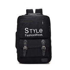 029f881a3de41 Moda na płótnie 15.6 cala Plecak na laptopa Mężczyźni Dorywczo druk listowy  Plecak podróżny dla dzieci