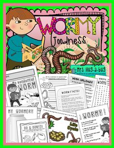WORMY, WORMY GOODNESS! Celebrating the recent opening of your schools worm farm? Looking for something fun to end your worm unit with? This worm pack is full of fun, slimy worm activities that celebrate the amazing things worms do for our gardens!