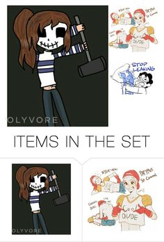 """""""for @chibiblue"""" by gamergirl88 ❤ liked on Polyvore featuring art"""