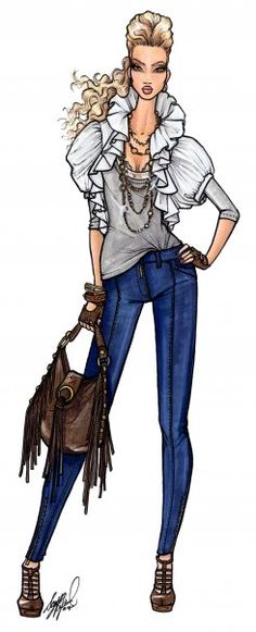 Fashion Sketch for House of Dereon
