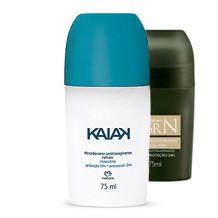 Desodorantes roll on Kaiak e SrN