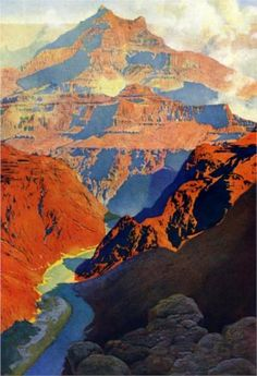 maxfield parrish | Grand Canyon - Maxfield Parrish - WikiPaintings.org