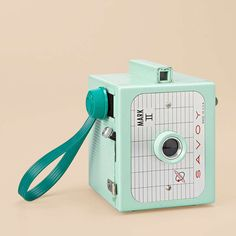 mint green vintage camera. adorable.