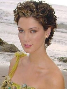 Image result for how to style pixie for curly hair