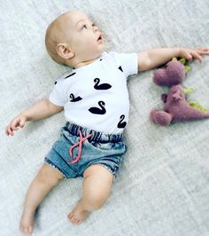 Precious little Swan  100% GOTS certified organic cotton. www.deerone.com.au