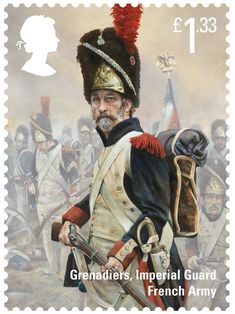 The Battle of Waterloo £1.33 Stamp (2015) French Imperial Guard Grenadier