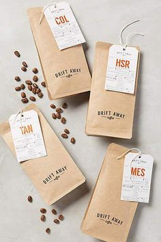 Gourmet Coffee Beans The Magical Flavor Food Packaging Design, Coffee Packaging, Coffee Branding, Coffee Labels, Chocolate Packaging, Bottle Packaging, Beer Labels, Packaging Ideas, Starbucks Coffee