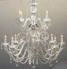 A46-385/8+4  Murano Venetian Style CHANDELIER Chandeliers, Crystal Chandelier, Crystal Chandeliers, Lighting