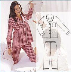 Dress Sewing Patterns, Clothing Patterns, Pyjamas, Silk Pajamas, Fashion Model Sketch, Costura Fashion, Cute Sleepwear, Night Suit, Teen Fashion Outfits
