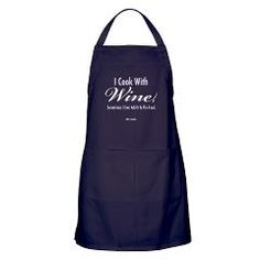 """I Cook With Wine Apron (dark).  """"I cook with wine, sometimes I even add it to the food"""" (W.C. Fields). Is there anything better than home cooking and fine wine shared with family and friends?  Visit the """"Wine Cellar"""" section of SplashingHoney.com for more great aprons, t-shirts and wine related items.  Share your comments and hear about hot products that are making a splash on Twitter at https://twitter.com/silverbract."""