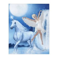 Shop Sky Faerie Asparas and Unicorn Acrylic Print created by WhimsicalArtwork. Personalize it with photos & text or purchase as is! Ghost Bride, Mermaid Fairy, Fantasy Gifts, Midnight Sky, Bride Dolls, Acrylic Wall Art, Magical Unicorn, Fairy Art, Faeries
