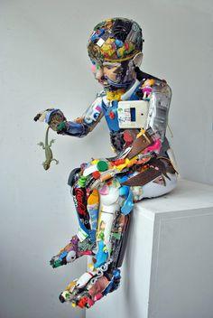 Lucertola - caught by patchwork artist
