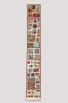 Berlin Wool Work Sampler | LACMA Collections Museum Exhibition, Art Museum, Ben Shahn, Frank Stella, Embroidery Sampler, Whitney Museum, Cross Stitch Samplers, Metal Beads, Book Making
