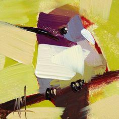 Hummingbird no. 112 original bird oil painting by Angela Moulton
