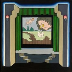 Roger Brown; Theater, 1968, oil on canvas, 60 x 61 inches.Instagram @ Peter Shear