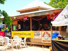 Raggae beach bar, St. Kitts. Met Wilbur the pig ~ island mascot. Sadly, Wilbur passed away in 2012 ~ RIP