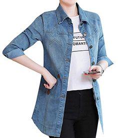 fdea983640fa Women Regular Fit Rugged Wear Star Print Cowboy Duster Coat Denim Jackets,  Boyfriend Jeans,