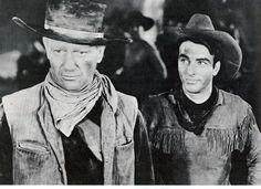 John Wayne and Montgomery Clift - Red River