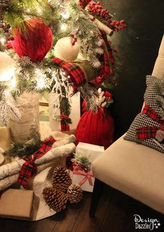 Repurpose an old sweater into a gift bag and ornaments. Love the warm cozy look this sweater brings to our Christmas decor. Reuse it every year to wrap gifts. Use the glue gun or sew it! Design Dazzle #repurposed