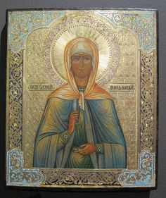 """""""Mary Magdalene"""" Circa 1890 Unknown artist Museum of Russian Icons"""