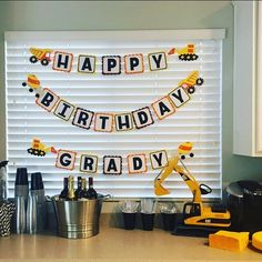 Customer photo. Anther construction party banner with custom name! #etsy #etsyseller #etsyshop #papercraft #paper #blueoakcreations #construction #kids #kidsparty #partyplanner #party #crafty See More Goodies at: www.blueoakcreations.com