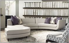 This sectional sofa is a chic state of the art sofa having a classy curved look. This sofa can be a great addition to small or large living rooms both.