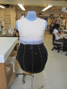 Step 3 in how to make a Who: After you have finished steps one and two this is what your costume would look like. Notice how the air conditioning foam is glued together to create the extra big hips every respectable Who has.  Photo by Alyssa Thompson