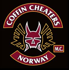 In 2004 the Forbidden Few Motorcycle Club Norway Was Patched Over To The Coffin Cheaters MC Norway. Lillestrom Are Norway Coffin Cheaters Mother Chapter Biker Clubs, Motorcycle Clubs, Bike Gang, Hells Angels, Nose Art, Cheaters, Art Club, Coffin, Norway