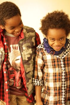 Double the print please! Layers of prints and plaids make the eyes glad.