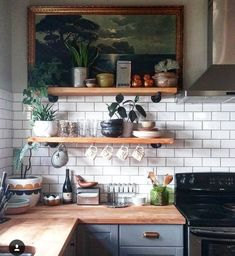 """nicest-interiors:  """"butcher block counter   let's stay home  """""""