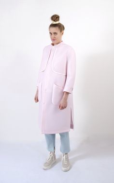 My examination project 2015: light pastel pink neoprene coat //Fanny Åhrman