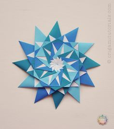 Origami 12-Pointed Star | Origami Tutorials                                                                                                                                                      More