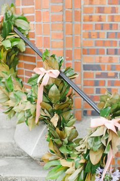 magnolia garland | Caroline Joy #wedding