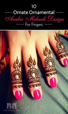 10 Ornate Ornamental Arabic Mehndi Design For Fingers