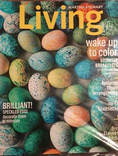 martha stewart living magazine march 2016 speckled eggs breakfasts flowers