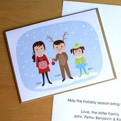 Adorable holiday cards from Maxwell Bartholomy and Olliegraphic -- affordable and precious! 3 Kids, Children, Cute Poster, Christmas And New Year, Holiday Cards, Little Ones, My Design, Kids Room, Growth Charts