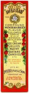 free printable digital vintage label ~ wintergreen flavor for ice-cream, jellies, pastry, custard, candies